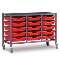 Treble Column Trolley with Trays - 725mm high