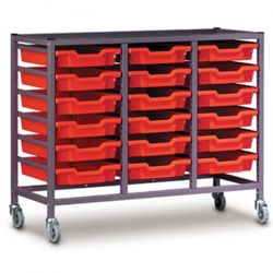 Treble Column Trolley with Trays - 850mm high