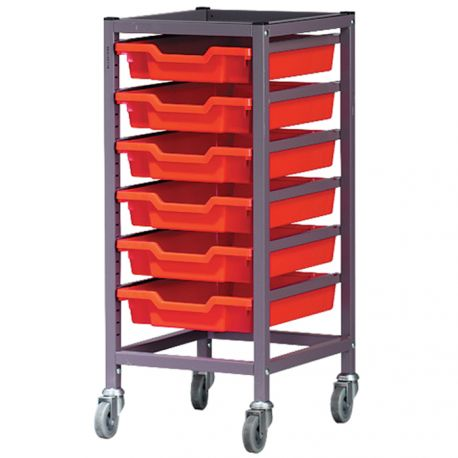 Single Column Trolley with Trays - 850mm high