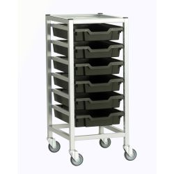 Single Column Trolley with Trays - 725mm high