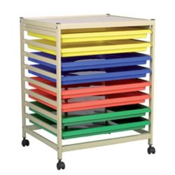 Art Trolley with Art Trays