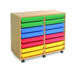 16 Art Tray A3 Paper Storage Unit (2 Columns of 8)