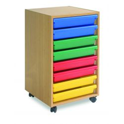 8 Art Tray A3 Paper Storage Unit (1 Columns of 8)