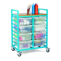 Art Trolley with 8 Deep Trays and Lids (2 Columns of 8)