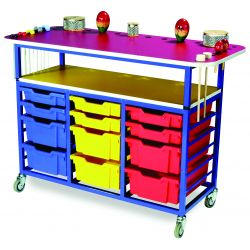 Multi Purpose Music Trolley with Trays