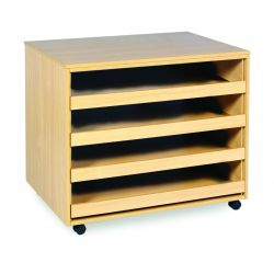 4 Sliding Drawer A1 Paper Storage - No Doors