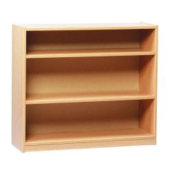Open Bookcase with 2 Shelves - 75cm Height