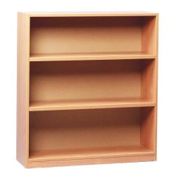 Open Bookcase with 3 Shelves - 1m Height