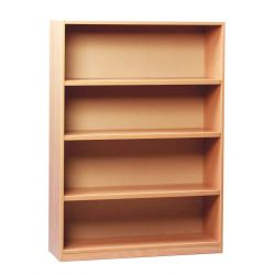 Open Bookcase - with 3 Shelves - 1.25m Height