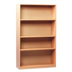 Open Bookcase - with 3 Shelves - 1.5m Height