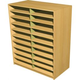 20 Space Double Bay Pigeonhole Unit