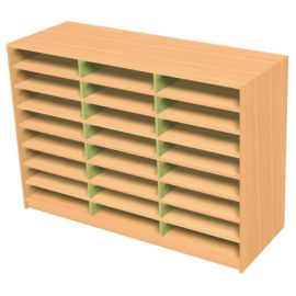24 Space Triple Bay Pigeonhole Unit
