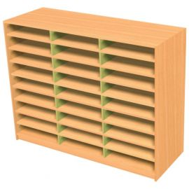 27 Space Triple Bay Pigeonhole Unit