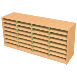 28 Space Quad Bay Pigeonhole Unit