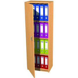 20 Space Slimline Box File Unit with Lockable Door