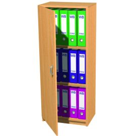 15 Space Slimline Box File Unit with Lockable Door