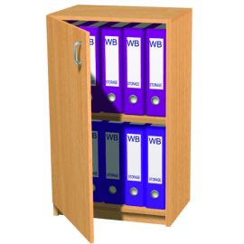 10 Space Slimline Box File Unit with Lockable Door