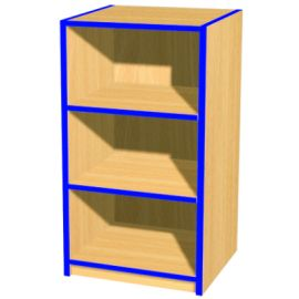 Folio 3ft Slimline Flat Top Library Bookcase