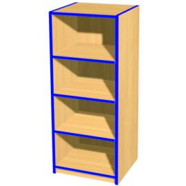 Folio 4ft Slimline Flat Top Library Bookcase