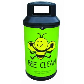Universal Litter Bin with Personalised Graphics