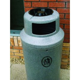 Universal Litter Bin with Black Ashtray and Personalised Graphics