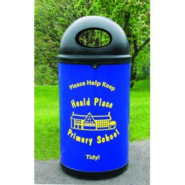 Classic Litter Bin with Tidy Logo and Personalised Graphics