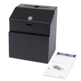 Steel Suggestion Box - Black