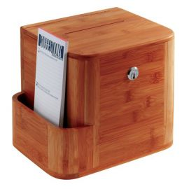 Bamboo Suggestion Box - Cherry