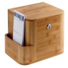 Bamboo Suggestion Box - Natural
