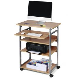 Computer System Trolley 80 - Metallic Silver