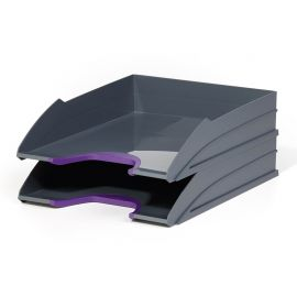 Varicolor Letter Tray Set Duo Purple