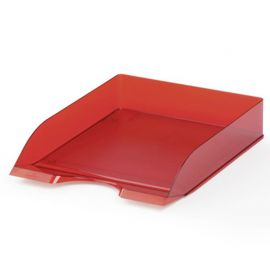 Letter Tray - Translucent Red - Pack of 6