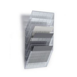 FLEXIBOXX 6 A4 Landscape with 2 x Dividers - Transparent