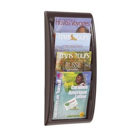 Fast Paper Quick Fit Wall Display A4 Black 4 pockets