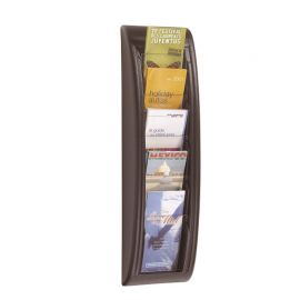 Fast Paper Quick Fit Wall Display 1/3 A4 Black 5 pockets