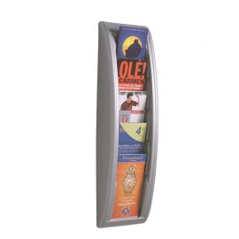 Fast Paper Quick Fit Wall Display 1/3 A4 Silver 5 pockets