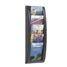 Fast Paper Quick Fit Wall Display A5 Black 5 pockets