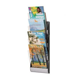 Fast Paper Maxi Wall Display A4 System Silver 4 pockets