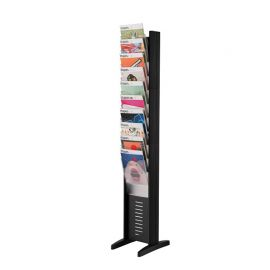 Fast Paper Floor Standing Display 10 Pockets - Black
