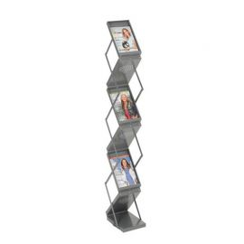 Folding Literature Display Double Sided - Grey