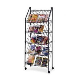 Wire Mobile Literature Display - Charcoal