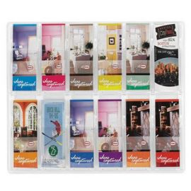 Reveal Display 12 Pocket 1/3 A4 - Clear