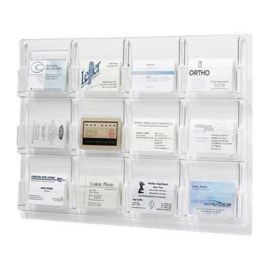 Reveal Display 12 Pocket Business Card - Clear