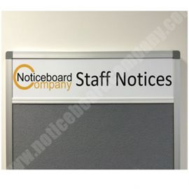 Slimline Cara Notice Board with Header