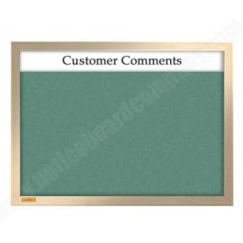 Solid Wood Framed Cara Fabric Board with Header