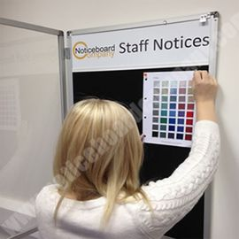 Slimline Cara Lockable Notice Board with Header