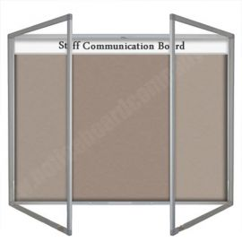 Slimline Forbo Nairn Lockable Bulletin Board with Header