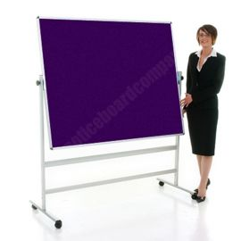 Double Sided Mobile Notice Board - Bespoke Felt