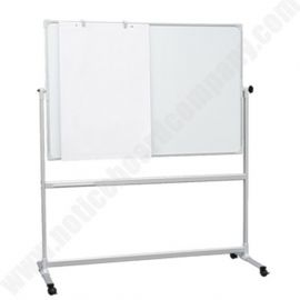 Double Sided Mobile Magnetic Whiteboard