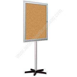Single Sided Allure Single Door Cork Mobile Board
